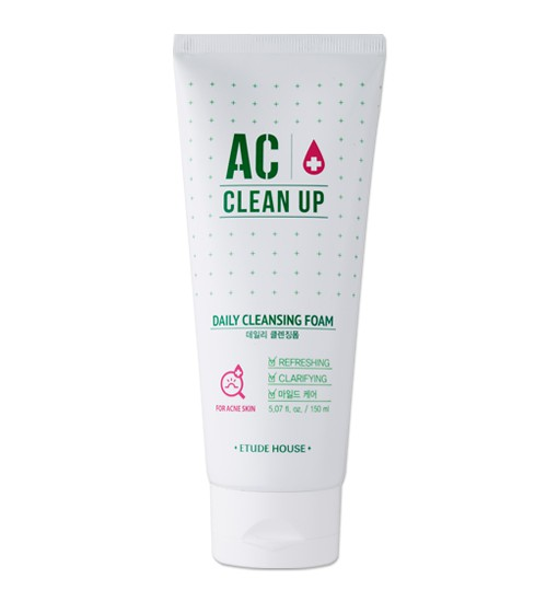 Acne foam cleanser