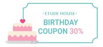birthday coupon 30%