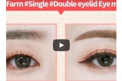 Play Color Eyes Peach Farm #Single #Double eyelid Eye makeup