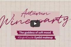 For the coming autumn! The goddess of soft mood Single/Double eyelid makeup