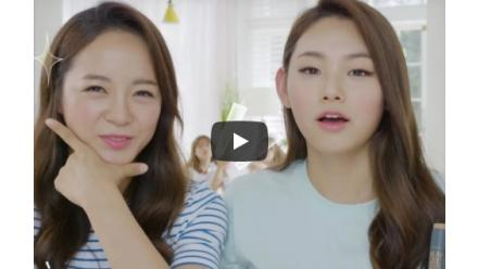 I.O.I Sejung & Mina's 1-minute Lively Make-up with Play 101 Summer Stick