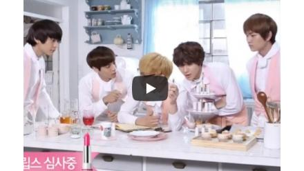 ETUDE Sweet Recipe! SHINee's commentary and Krystal and Sulli's vivid interview!